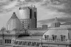 Bucharest Architecture Black and White Royalty Free Stock Image