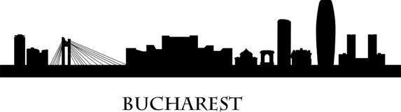 Bucharest architektura pod dramatycznym niebem Zdjęcie Stock