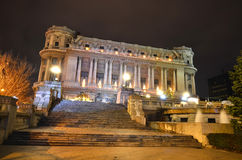 Bucharest, Army Palace and Sarindar fountain Stock Photos