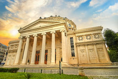 Bucharest  Ateneul Roman, Romanian Ateneum Bucharest Royalty Free Stock Photography