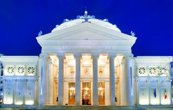 Bucharest Athenaeum at night Royalty Free Stock Photography