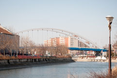Bucharest Basarab bridge Stock Photos