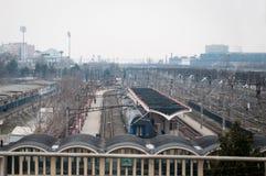 Bucharest Basarab train station Stock Photos