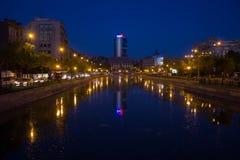 Bucharest bis zum Nacht Stockbilder
