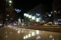 Bucharest bis zum Nacht Lizenzfreies Stockfoto