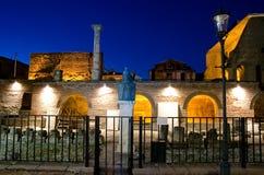Bucharest bis zum Nacht - das alte Gericht Stockbild