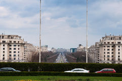 Bucharest boulevard Royalty Free Stock Photography