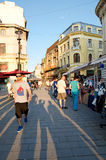 Bucharest busy street Royalty Free Stock Photos