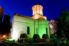Bucharest By Night - Old Court Church Stock Photos