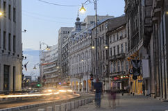 Bucharest - Calea Victoriei Royalty Free Stock Photography