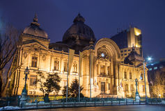 Bucharest CEC Palace Royaltyfri Foto