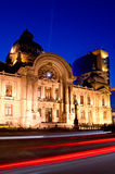 Bucharest center by night Royalty Free Stock Images