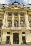 Bucharest Central University Library. The present Central University Library was founded in 1895 as the Carol I Library of the University Foundation. It was stock image