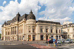 Bucharest Central University Library. BUCHAREST, ROMANIA - MAY 24, 2015: Bucharest Central University Library was founded in 1895, completed in 1893 and opened royalty free stock photos