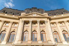 Bucharest Central University Library. BUCHAREST, ROMANIA - MAY 24, 2015: Bucharest Central University Library was founded in 1895, completed in 1893 and opened stock photography