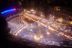 Free Bucharest Christmas Fair From Universitatii Square Stock Photography - 105836372