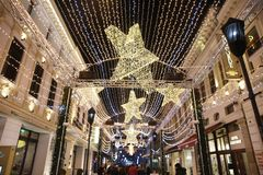 Free Bucharest Christmas Lights Stock Photo - 105980850