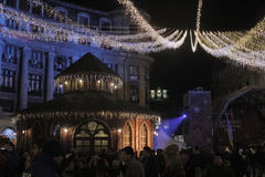 Free Bucharest Christmas Lights Stock Photography - 63254112