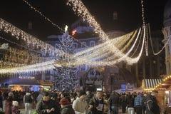 Bucharest Christmas Lights Royalty Free Stock Image
