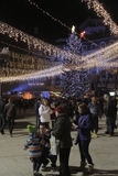 Bucharest Christmas Lights Royalty Free Stock Images