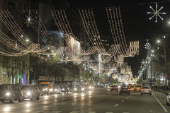 Bucharest Christmas Lights Royalty Free Stock Photos