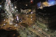 Bucharest Christmas Lights Stock Photos