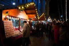 Bucharest Christmas Market shops Stock Images