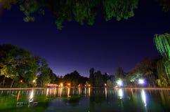 Bucharest - Cismigiu sjö Royaltyfri Fotografi