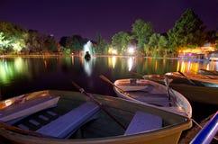 Bucharest - Cismigiu sjö Arkivbild