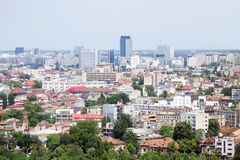 Bucharest city aerial view Royalty Free Stock Images