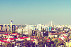 Bucharest City Aerial View Royalty Free Stock Photo