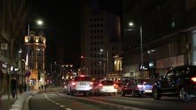 Bucharest city center cars traffic stock video