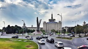 Bucharest city at day stock photos