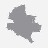 Bucharest city map in gray on a white background Stock Photography