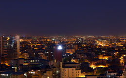 Bucharest city by night Stock Images