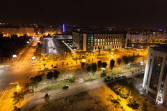 Bucharest city by night Royalty Free Stock Images