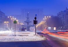 Bucharest city at night Royalty Free Stock Photo