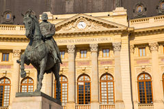 Bucharest City in Romania, University Library Stock Photography