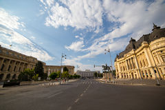 Bucharest City in Romania, University Library Stock Photos