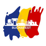 Bucharest City Skyline Royalty Free Stock Images