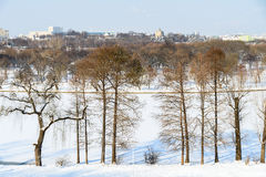 Bucharest City Skyline In Winter Stock Images
