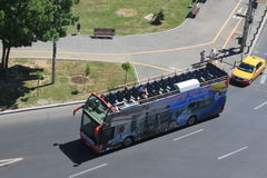 Bucharest city tour bus Stock Image