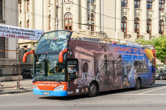 Bucharest City Tour Bus Royalty Free Stock Images