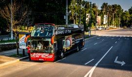 City Tour Bus - Bucharest Stock Photo