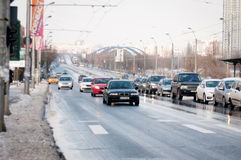 Bucharest city traffic Royalty Free Stock Photos