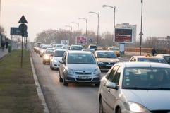 Bucharest city traffic Stock Images