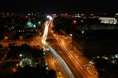 Bucharest city traffic Royalty Free Stock Photo