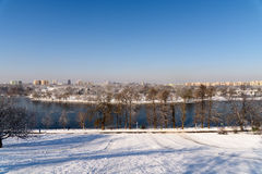 Bucharest City View From Youths Park (Parcul Tineretului) After Heavy Winter Snow Royalty Free Stock Photos