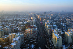 Bucharest city in winter Stock Photos