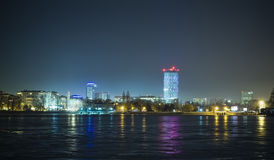 Bucharest cityscape at night Royalty Free Stock Image